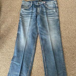 Men's size 40/32 silver jeans